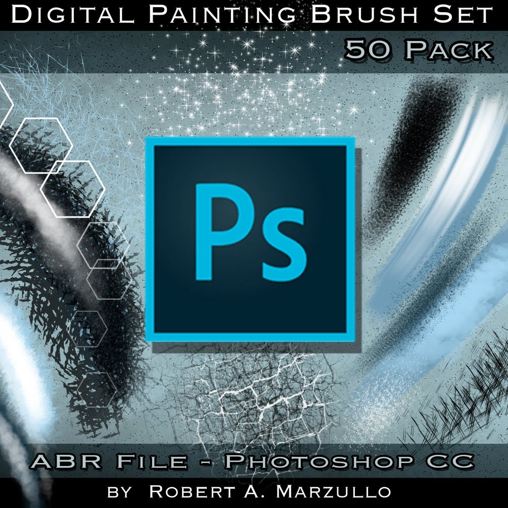 Photoshop CC Custom Brushes 50 Set