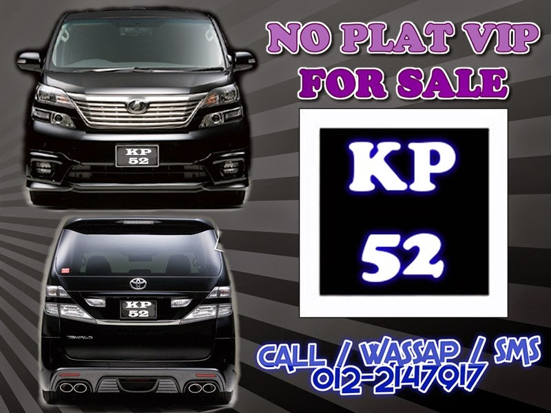 PLAT VIP FOR SALE