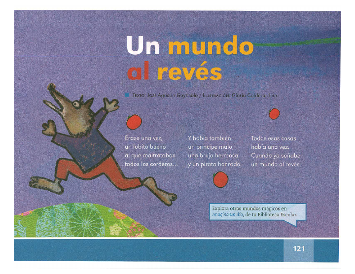 Un mundo al revés español lecturas 2do bloque 5/2014-2015