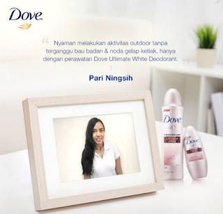 Free Sample Dove Ultimate White Deodorant 2016 untuk 50 orang
