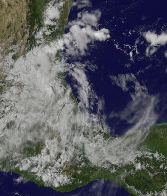 NATE ist kein Tropischer Sturm mehr, Nate, Satellitenbild Satellitenbilder, Mexiko, Golf von Mexiko, aktuell, September, Hurrikansaison 2011, 2011,