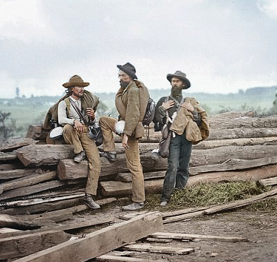 Captured Confederates at Gettysburg