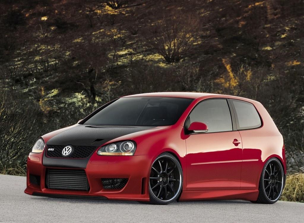 Volkswagen Golf 2014 Red Volkswagen Golf Carbon Gti Red
