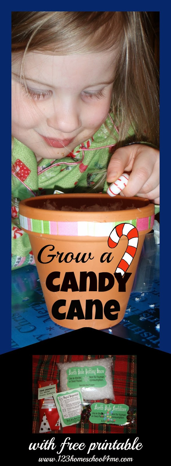 grow a candy cane activity with free printable