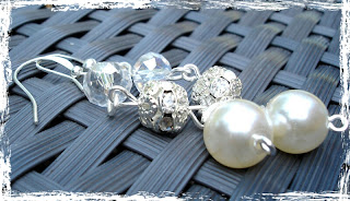 Pearl Crystal Bridal Earrings