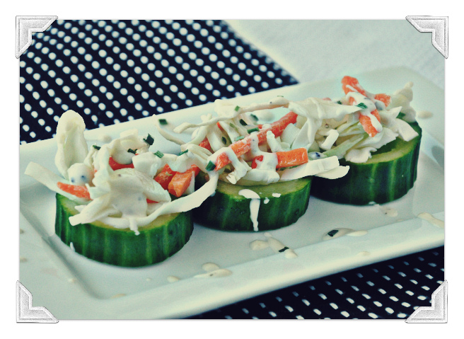 coleslaw cucumber cups appetizer snack cabbage carrots ranch