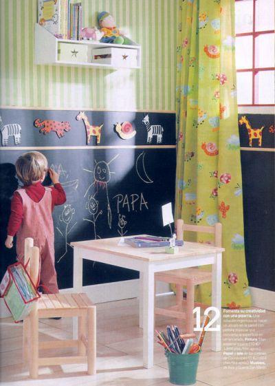 Arquitectura directa paredes de casa pizarra para los ni os - Paredes para ninos ...