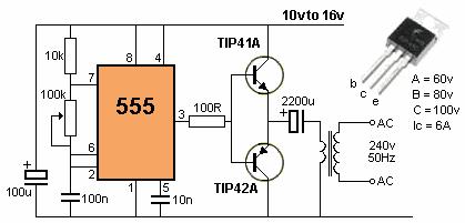 inverter 12v ke 240v sirkuit inverter ini akan menghasilkan 240v di ...