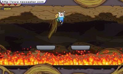 3DS Adventure Time Hey Ice King! Why'd you steal our garbage!! Screenshot