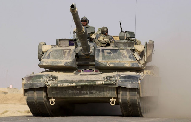 US Army M1A1 Abrams main battle tank