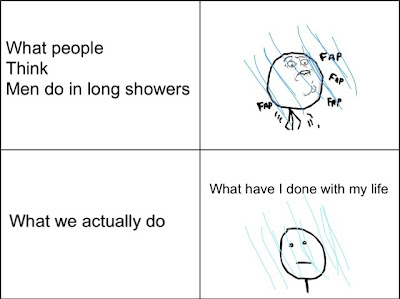 What people do in long showers fap