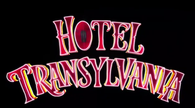 Hotel Transylvania 2012 Sony Pictures Animation animated film title starring Adam Sandler, Andy Samberg, and Selena Gomez
