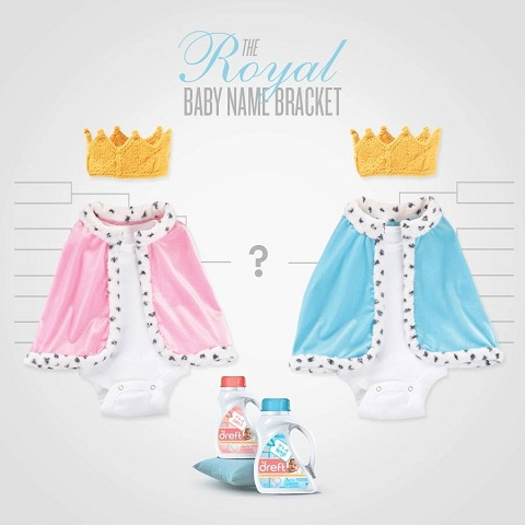 Dreft Royal Baby Name Bracket