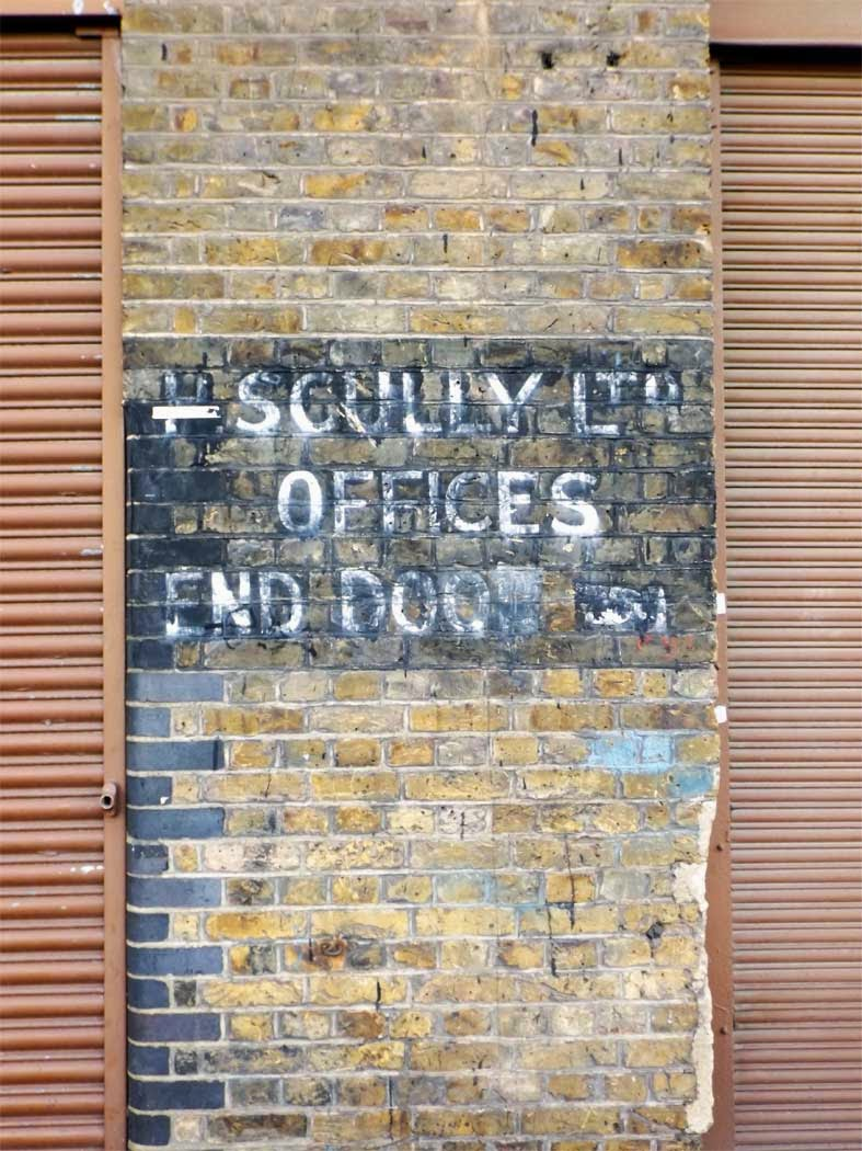 h scully ghost sign hackney wick london