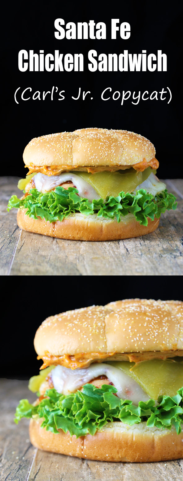 Santa Fe Grilled Chicken Sandwich (Carl's Jr. Copycat)
