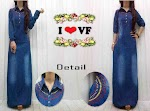 Gamis Jeans Bordir SOLD OUT