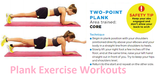 Two Point Plank Exercise Variations