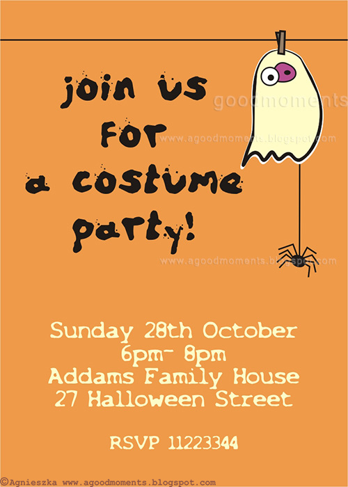 Good Moments Costume Party Invitation Zaproszenie Na Bal