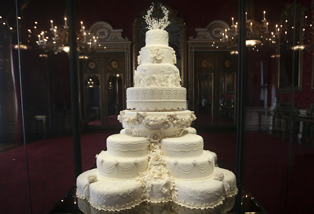 Tarta nupcial en Buckingham Palace