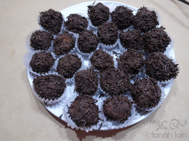 trufas de chocolate