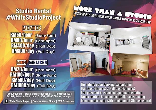 Pakej Sewa White Studio Project Serendah RM50