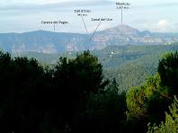 Panoràmica de Sant Llorenç del Munt des del Collet de Mas Clamí