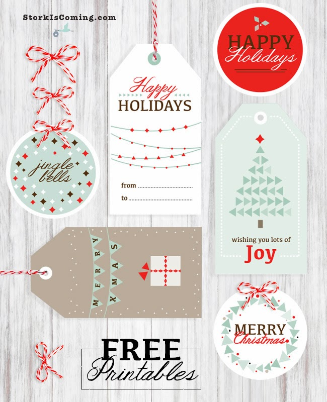 Jazzy Free Printable Gift Tags from the Stork is Coming