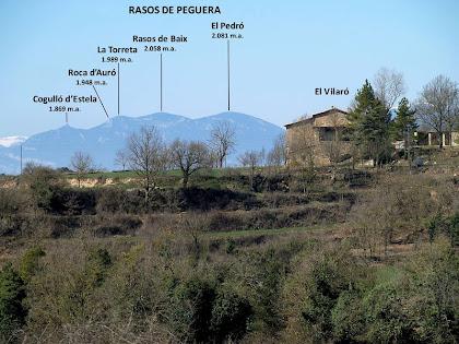 Panoràmica del Vilaró amb els Rasos de Peguera al fons de tot