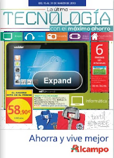 Catalogo Alcampo TV laptop marzo 2013