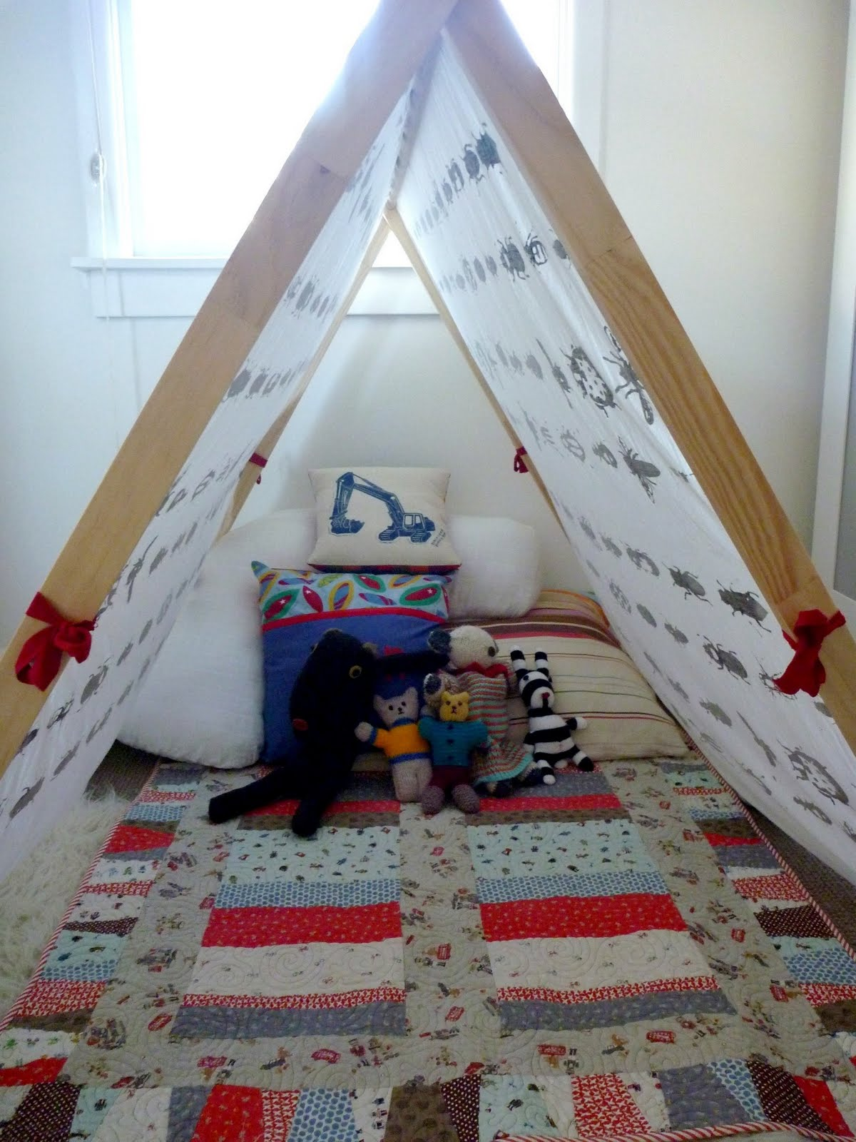 other things i make -- indoor tent for kids & B I R C H s e e d -- printed by hand: other things i make ...