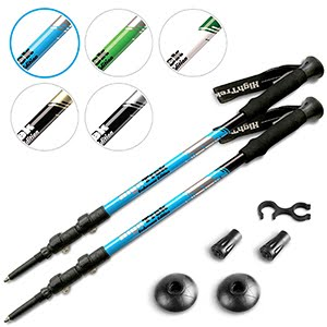 Premium Ultralight Trekking Poles w/ Sweat Absorbing EVA Grips