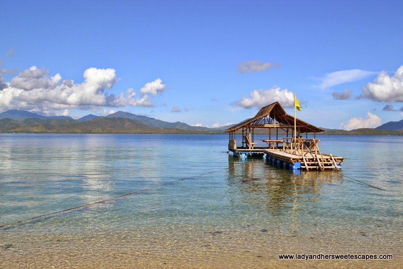 floating cottage in Starfish island Palawan