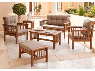 Conjunto de mobiliario de jardn new morocco de madera de - Mesa camilla carrefour ...