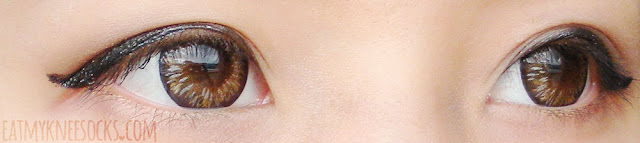 More close-ups of the lovely Maxlook Pinky Brown colored contacts from Klenspop.
