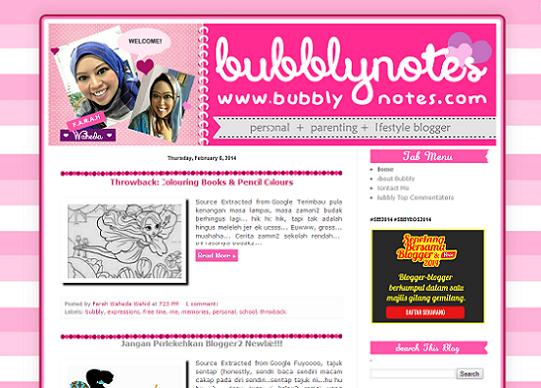 Tempahan : www.bubblynotes.com