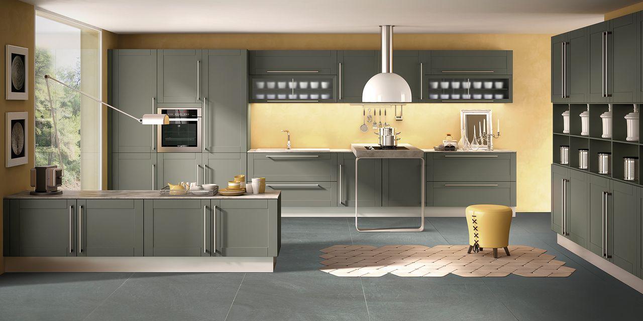 cuisine bois et poign es m tal. Black Bedroom Furniture Sets. Home Design Ideas
