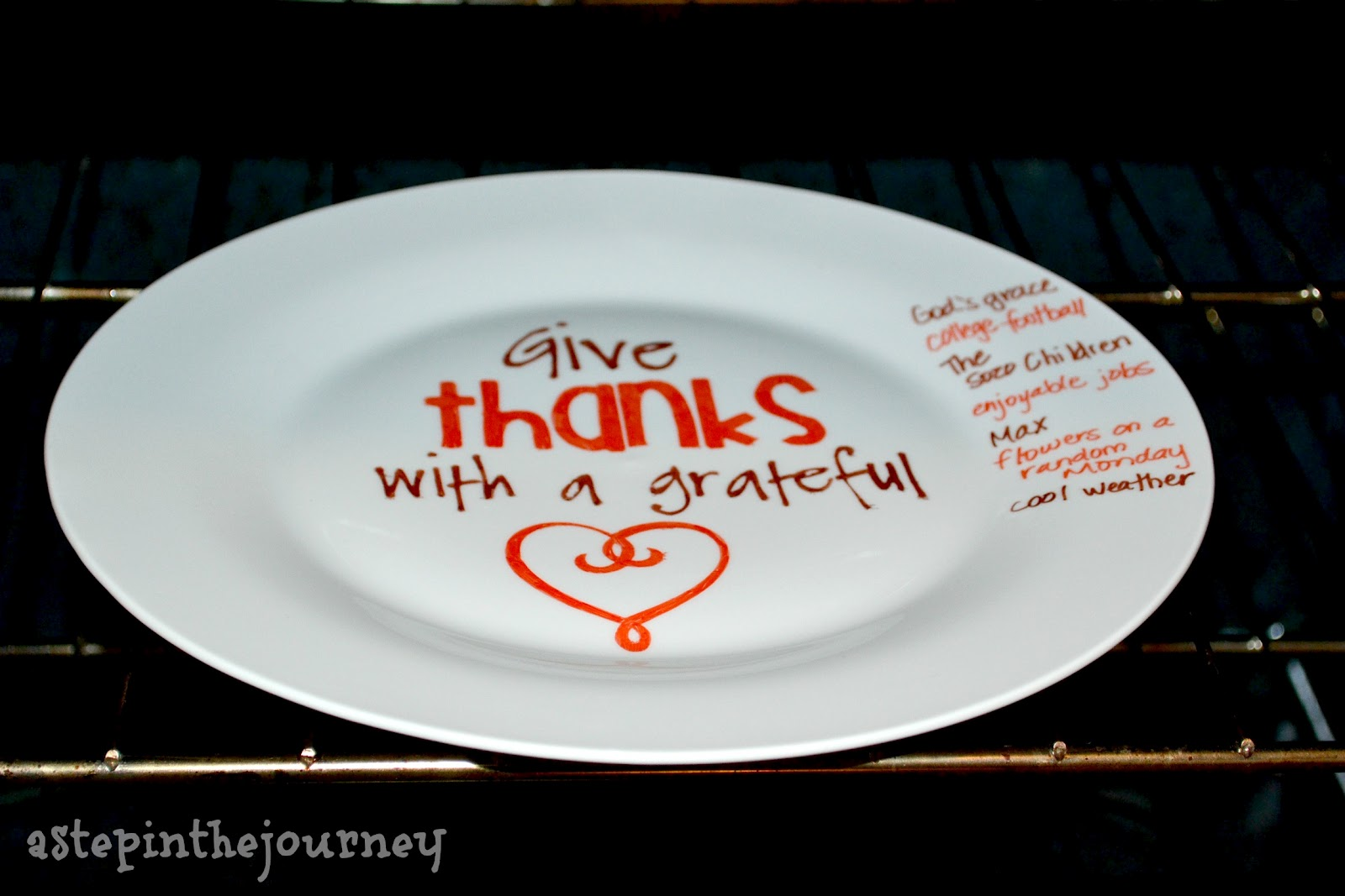 Let me know if you have tried this u0026 how the Sharpie holds up! & Give Thanks | A Sharpie Plate