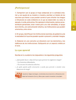 Apoyo Primaria Formación Cívica y Ética 5to grado Bloque I lección 3 ¿Quién me dice cómo cuidarme?