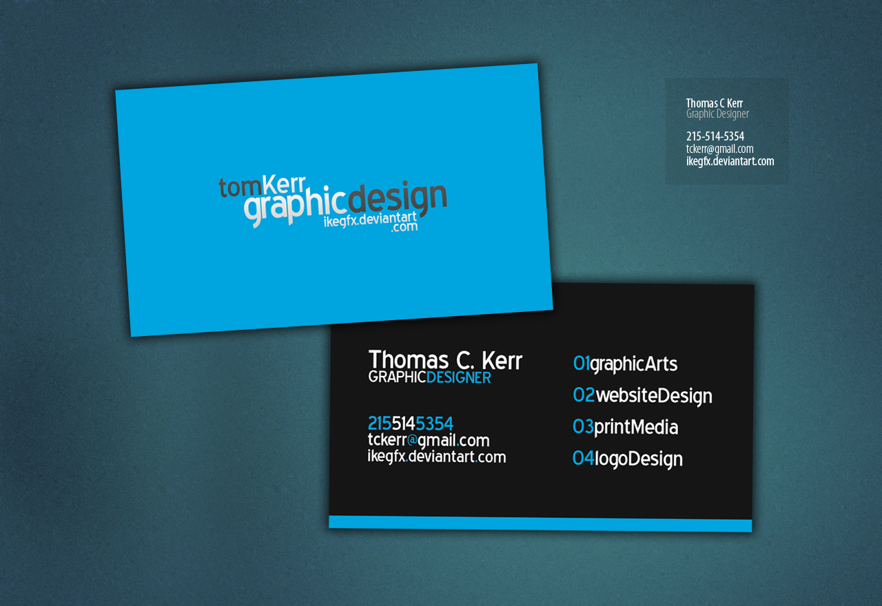 Sams typography graphic design blog business card 3 this business card has potential but i see some improvements that must be made first off i like blue and its a good color to use but that first card has colourmoves
