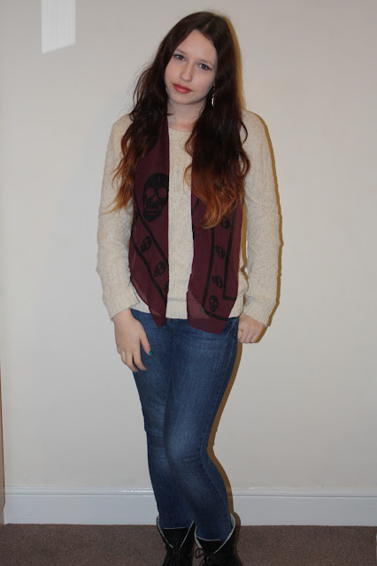 Simple Jumper OOTD With Jeans and Boots
