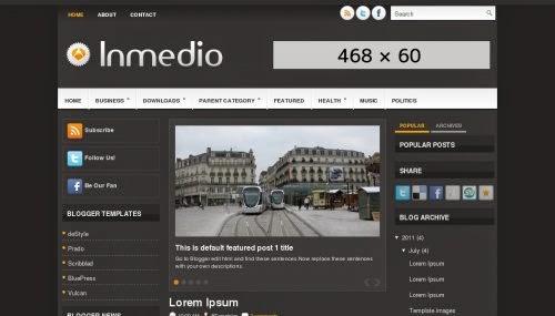 Inmedio - Free Blogger Template