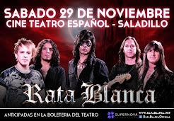 """RATA BLANCA EN EL """"CINE TEATRO ESPAÑOL"""" - 29/11/2014"""