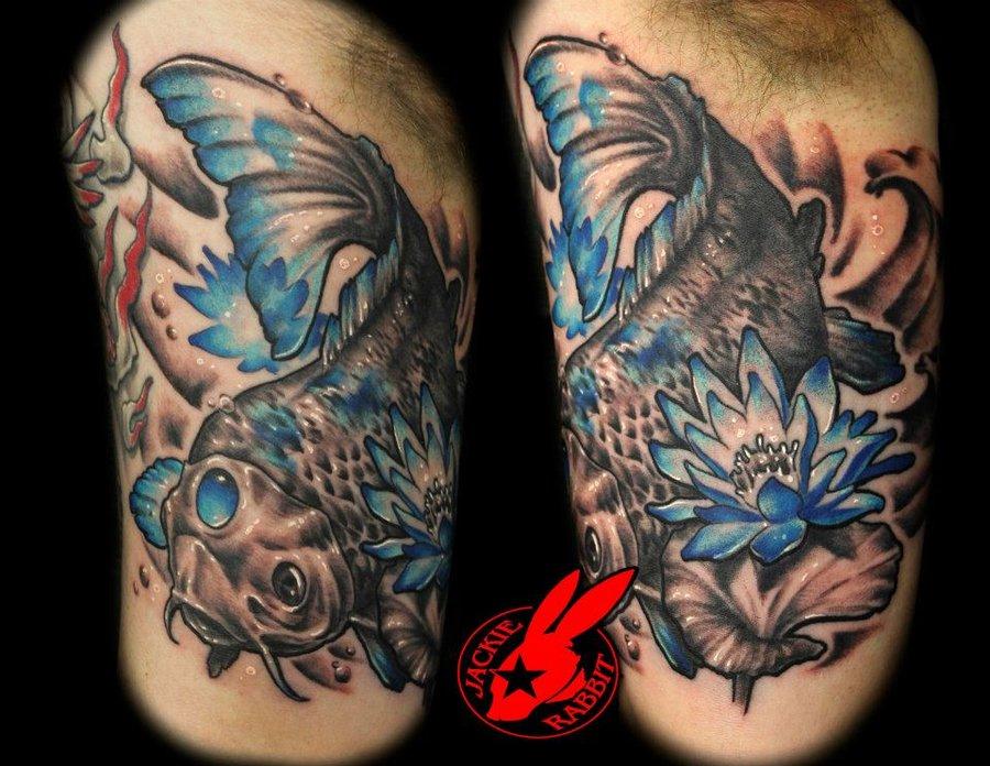 Tatto koi fish tattoo for Blue koi fish tattoo