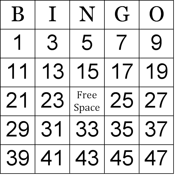Peaceful image inside free printable bingo cards 1-75