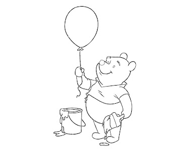 #3 Winnie The Pooh Coloring Page