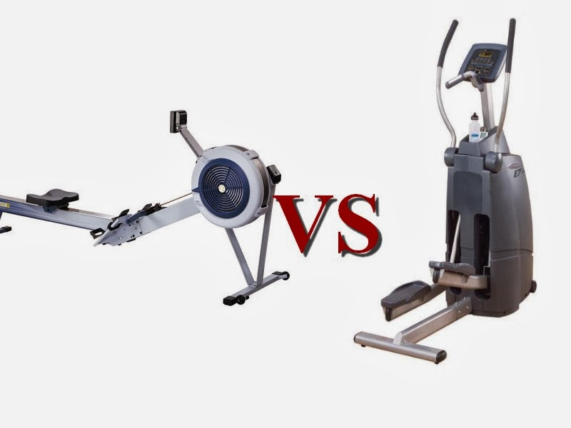 rowing machine vs elliptical vs treadmill