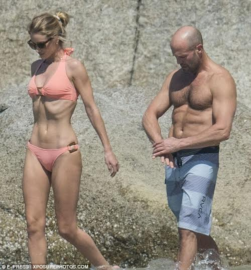 The sexiest celebrity couple in the world, Jason Statham and Rosie Huntington Whiteley 1