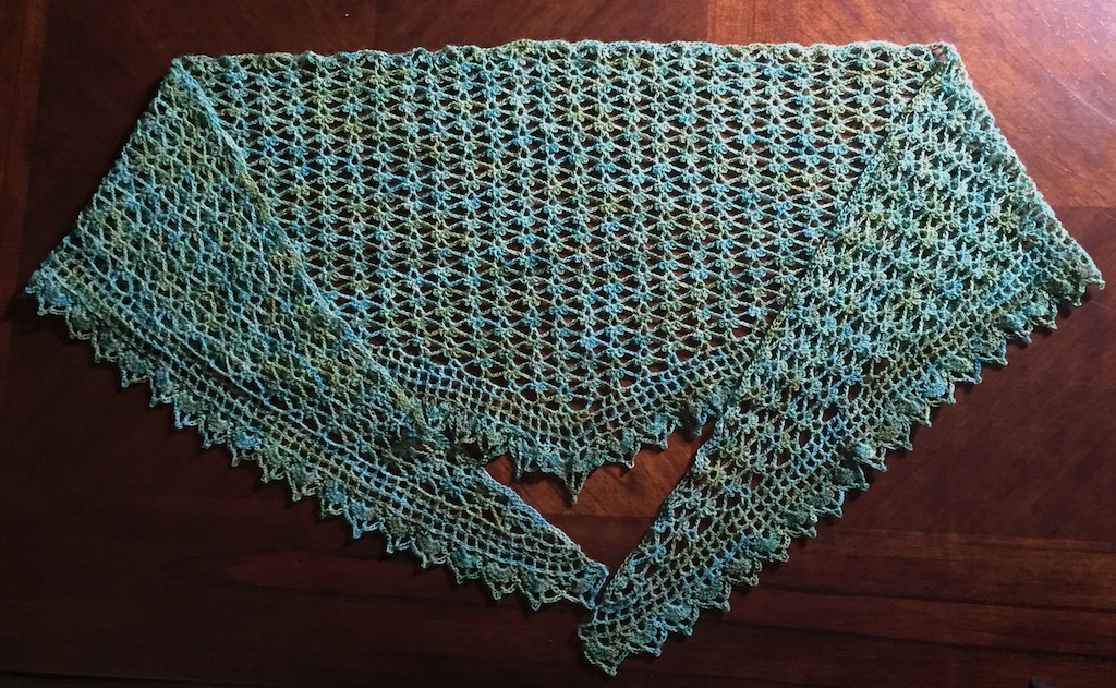 Illuminate Crochet Summer Sprigs Lace Scarf In A Special Colorway