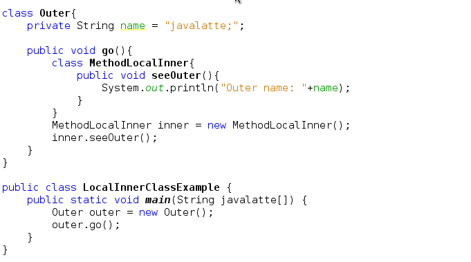 how to call a non static method in java