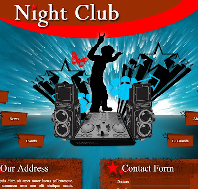 Night Club Free Flash Template